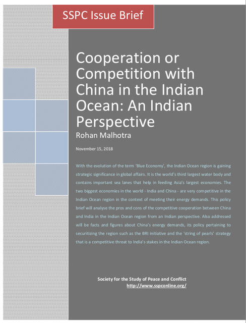Cooperation or Competition with China in the Indian Ocean