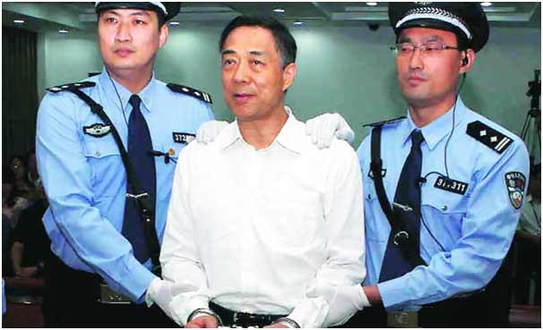 Bo Xilai after the verdict in the court in Jinan in September 2013. (Photo by: REUTERS; Source: The Indian Express)